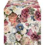 Apelt Tischläufer Herbstzeit bunt/rose/weiss/violett 40x140 cm