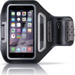 """Aplic Smartphone Fitness-Armband mit Schlüsselfach & Kopfhörerhalter »für Handys mit bis zu 4,7""""«, schwarz, schwarz"""