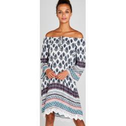 Apricot Tunikakleid »Feather Border Crochet Trim Dress« mit Häkelsaum