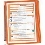 Arbeitsplatzzubehör DURABLE Hunke & Jochheim Sichttafelsystem, Wandhalter, Metall, 5 Sichttafeln Polypropylen, orange
