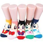 Aries Sailor Moon Women's Socks 6pairs(6color)=1pack Made in Korea