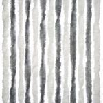 Arisol Chenille Flauschvorhang, 100x200cm, grau/weiß, ideal für Vorzelte/Balkone