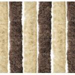 Arisol Chenille Flauschvorhang, 56x185cm, braun/beige, ideal für Caravans
