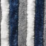 Arisol Chenille Flauschvorhang, 56x205cm, grau/dunkelblau/weiß, ideal für Reisemobile