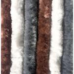 Arisol Chenille Flauschvorhang, 70x205cm, braun/grau/weiß, ideal für Reisemobile