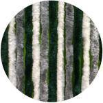 Arisol Chinelle Flauschvorhang, 56x185 cm, Grau / Dunkelgrün / Weiß