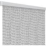 Arisol Rain Türvorhang, 100x220cm, silber/weiß