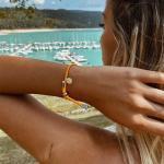 Armband Vitamin Sea Silber Orange