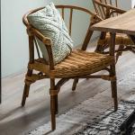 Armlehnenstühle aus Teak Recyclingholz Rattan