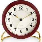 Arne Jacobsen Station Tischuhr Rosendahl Timepieces Bordeaux-Weiss