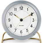 Arne Jacobsen Station Tischuhr Rosendahl Timepieces Grau-weiss
