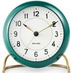 Arne Jacobsen Station Tischuhr Rosendahl Timepieces Grün-Weiss