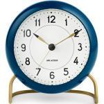 Arne Jacobsen Station Tischuhr Rosendahl Timepieces Petrol-Weiss