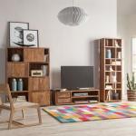 Ars Natura TV-Lowboard Trangle Massivholz Sheesham 130x40x40 cm (BxHxT)