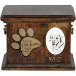 ArtDog Ltd. Labrador Retriever, Urne für Hundeasche mit Keramikplatte und Beschreibung