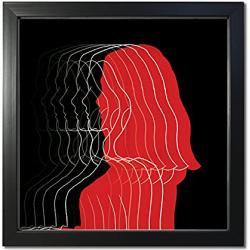 Schwarze Quadratische Bilderrahmen 10x10 B 15 cm, H 15 cm, L 10 cm