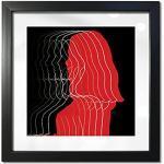 Weiße Quadratische Bilderrahmen 30x30