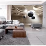 Artgeist Vliestapete Geometric Glare Premium Vlies Braun/Schwarz Rechteckig 150x105 cm (BxH)