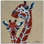 Moderne Artland Giraffen Bilder mit Giraffen-Motiv poliert