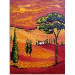 Artland Glasbild »Irgendwo in der Toskana/Toscana«, Sonnenaufgang & -untergang (1 Stück)