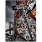 Artland Glasbild New York Street Fotografie, Amerika, (1 St.) grau Glasbilder Bilder Bilderrahmen Wohnaccessoires