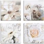 Weiße Artland Gemälde mit Magnolienmotiv