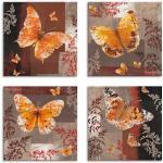 Braune Artland Schmetterlinge Bilder mit Schmetterlingsmotiv