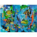 Gelbe Moderne Artland abstrakte Bilder mit Tiermotiv
