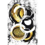 Goldene Zeitgenössische Artland Poster