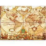 Braune Shabby Chic Artland Bilder & Wandbilder mit Weltkartenmotiv