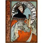 Artland Wandbild »Au Quartier Latin. 1898«, Frau (1 Stück), in vielen Größen & Produktarten -Leinwandbild, Poster, Wandaufkleber / Wandtattoo auch für Badezimmer geeignet