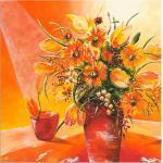 Orange Art Deco Artland Leinwandbilder