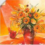 Orange Art Deco Artland Leinwandbilder selbstklebend
