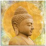 Goldene Moderne Artland Bilder & Wandbilder mit Buddha-Motiv strukturiert