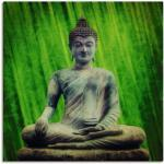 Artland Wandbild Buddha, Religion, (1 St.), in vielen Größen & Produktarten -Leinwandbild, Poster, Wandaufkleber / Wandtattoo auch für Badezimmer geeignet grün Kunstdrucke Bilder Bilderrahmen Wohnaccessoires