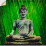 Grüne Artland Poster mit Buddha-Motiv