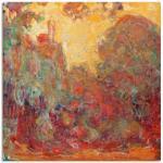 Rote Artland Claude Monet Leinwandbilder
