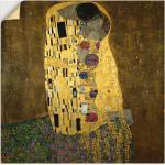 Artland Wandbild »Der Kuß«, Paar (1 Stück), in vielen Größen & Produktarten -Leinwandbild, Poster, Wandaufkleber / Wandtattoo auch für Badezimmer geeignet
