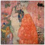 Rote Artland Gustav Klimt Leinwandbilder