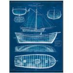 Blaue Antike Artland Leinwandbilder