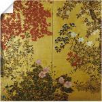 Artland Wandbild »Japanischer Wandschirm 18. Jahrhundert«, Pflanzen (1 Stück), in vielen Größen & Produktarten -Leinwandbild, Poster, Wandaufkleber / Wandtattoo auch für Badezimmer geeignet