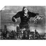 Artland Wandbild King Kong 1933 II schwarz Bilder Bilderrahmen Wohnaccessoires