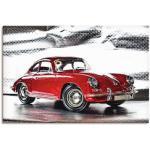 Rote Moderne Artland Porsche Leinwandbilder
