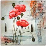 Rote Moderne Artland Leinwandbilder strukturiert