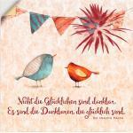 Artland Wandbild »Lebensweisheit Glücklich«, Tiere (1 Stück), in vielen Größen & Produktarten - Alubild / Outdoorbild für den Außenbereich, Leinwandbild, Poster