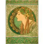 Grüne Art Deco Artland Dekoration