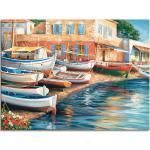 Artland Wandbild »Mediterranes Ambiente I«, Boote & Schiffe (1 Stück), in vielen Größen & Produktarten -Leinwandbild, Poster, Wandaufkleber / Wandtattoo auch für Badezimmer geeignet