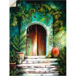 Artland Wandbild »Mediterranes Gartenparadies«, Fenster & Türen (1 Stück), in vielen Größen & Produktarten - Alubild / Outdoorbild für den Außenbereich, Leinwandbild, Poster, Wandaufkleber / Wandtattoo auch für Badezimmer geeignet