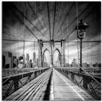 Schwarze Moderne Artland New York Bilder mit Brückenmotiv strukturiert