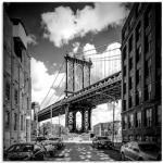 Artland Wandbild New York City Manhattan Bridge, Amerika, (1 St.), in vielen Größen & Produktarten - Alubild / Outdoorbild für den Außenbereich, Leinwandbild, Poster, Wandaufkleber Wandtattoo auch Badezimmer geeignet schwarz Kunstdrucke Bilder Bilderrahmen Wohnaccessoires
